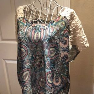 Beautiful Paisley Blouse with Lace